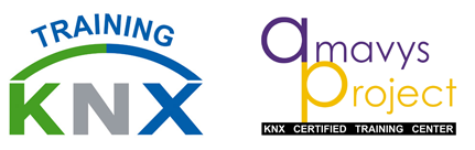 Emblema Amavys KNX Training center logo site